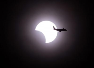 éclipse avion
